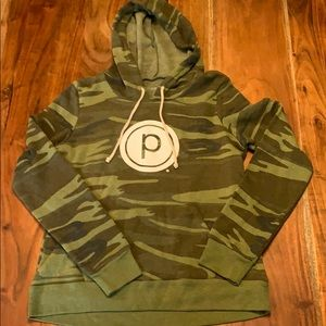 Pure Barre Camo Circle P Hoodie - large - NWOT